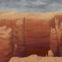 Canyon Dragon Backround by kashidoodles