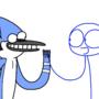 Mordecai Meets Blue