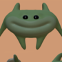 Funny green man