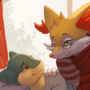 Braixen and Quilava sex commission