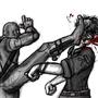 Kick to face! by Rhunyc