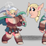 Glyreth the Wood Elf Warrior - Reference