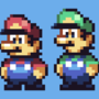 -Mario & Luigi Sprites made by me-