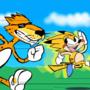cheetos cheetah running with sonichu
