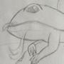 Old fire salamander sketch