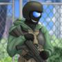 (COM) Military dude.