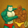 diglett & snorlax muscle power by ciberman001