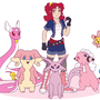 Pink Power Pokemon by LovelyKouga