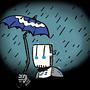 Robot in the Rain by comicretard