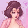 O-robi and her massive geisha boobs