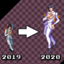 Then Vs. Now! Bruno Bucciarati - [PixelArt]