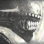 Profile Alien Drawing by unttin7