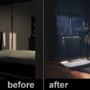 Before and After Postedit   example