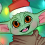 Christmas Baby Grogu fanart by cazian_art