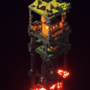 MC vertical voxeltower - animated