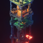 MC vertical voxeltower