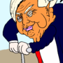 Trump's cartoony political antics ( political satire / parody )