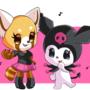 Retsuko and Kuromi