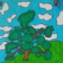 Windows XP background but with a tree