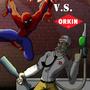 Spiderman VS Orkin Man