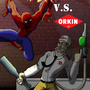 Spiderman VS Orkin Man by MST3KMAN
