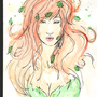 Poison Ivy Water Color by ManBean