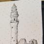 lighthouse card art