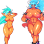 Koopa Girl evolution sheet