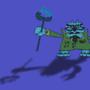 Alien Crab King by Mieshka