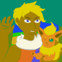 Zale and a Flareon