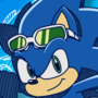 Movie Sonic in the Sonic Riders style