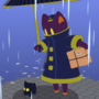 Mail Cat and Mysterious Friend