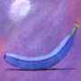 portrait of a blue banana