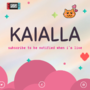 Kaialla Twitch Banner Design