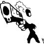 justa gun by SpanglishHorse