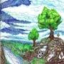 tree rock by artlegitimate
