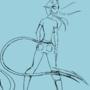 Tall Skinny Alien Lady Sketch 01