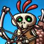 Dr. Calcium Bone Monster and his turtle pet