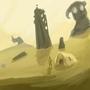 RUINS DESERT N COLOSSUS by Alef321