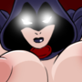 Raven with Huge Floating Boobs