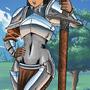 80s Anime Knight Girl