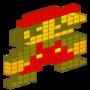 8-Bit Isometric Mario by BlackBone