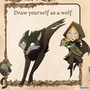 Draw yourself as a wolf