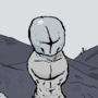 Madness combat grunt but hes muscular and cold colors