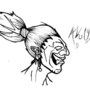 Akuma's Head by Ninja-in-the-shadows