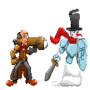Mr. Scrooge and Snowman by mdkcde