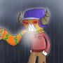 Gyro in Rain by Octa8t8