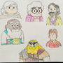 Hilda season 2 characters drawing colored & outlined