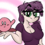 Purple gal with the kirb