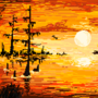Pixel Swamp Sunset